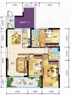 (桂平)金港茗苑3室2厅2卫115m²毛坯房