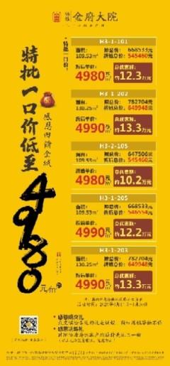 (桂平)福桂·三千城3室2厅2卫109m²毛坯房