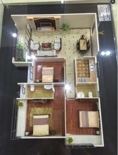 出售(桂平)地王财富中心3室2厅2卫110平毛坯房